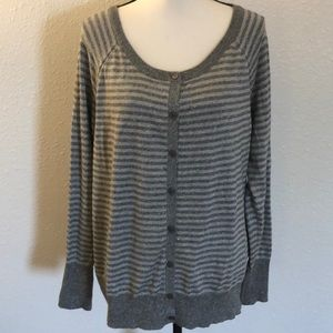 Lane Bryant SZ 18/20 Sparkle Striped Cardigan